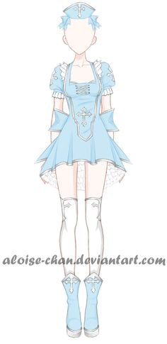 [OPEN] Priest Outfit Adoptable by Aloise-chan.deviantart.com on @DeviantArt