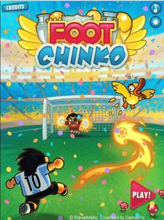 #Soccer! Play this #game on your mobile device or desktop completely free #FootChinko https://www.watchingpixels.com/foot-chinko/