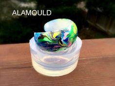 Making Resin Abstract Cuff Bracelet! Very Fast 35min, Easy and Fun! Clea...
