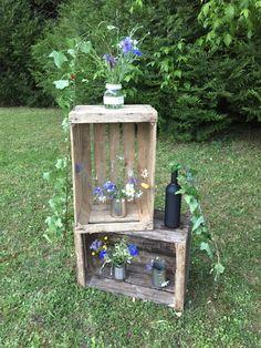 Caisses en bois dans son jardin