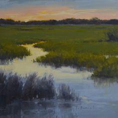 Twilight - Anderson Gallery Exhibit, painting by artist Laurel Daniel