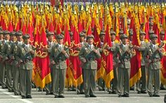 North Korea marked the 65th anniversary of its founding on Monday with a military parade in Pyongyang