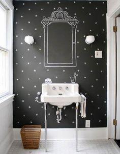 DIY Dekoration mit Tafelfarbe  #diy #dekoration #wandgestaltung