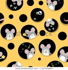 Cute rat and mouse live in cheese home cute creativity abstract background seamless pattern texture fabric for kids vector illustration, animal cartoon collection character Rats Mignon, Wallpaper Kawaii, Mouse Illustration, Cartoon Illustrations, Pattern Texture, Disney Princess Cartoons, Chinese New Year Card, New Year Art, Cute Rats