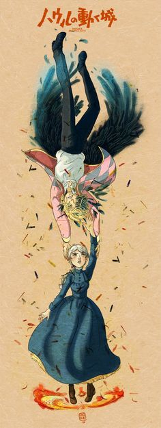 Howl's moving castle Art Print by Drawberry - X-Small Studio Ghibli Art, Studio Ghibli Movies, Hayao Miyazaki, Totoro, Howl's Moving Castle Tattoo, Howls Moving Castle Wallpaper, Howl And Sophie, The Cat Returns, Ghibli Tattoo