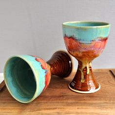 Ceramic Wine Glasses from Lee Wolfe Pottery — back in stock!