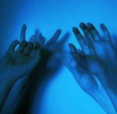 Blue aesthetic tumblr hands