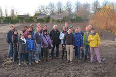 30 november 2013 - klaar voor de tweede helft hagen aanplanten