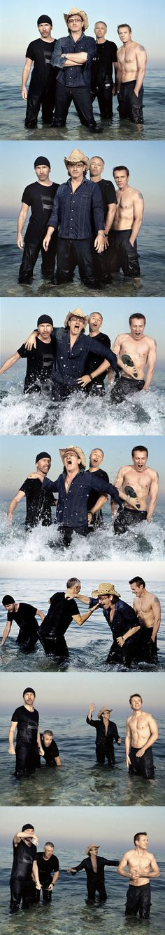 U2 photographed by Perou for Blender Magazine, © 2004