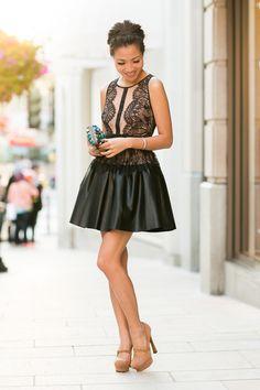 Dress :: BCBG Bag :: Wanderlust + Co Shoes :: YSL (old) (similar here) Accessories :: Burberry belt (similar here), Tacori ring and bracelet, Deborah Lippmann 'Fade to black' polish