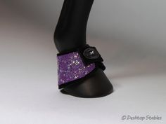 Desktop Stables - purple glitter bell boots