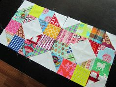 Love circle May blocks---this might be a fun pattern for a  charm square exchange.