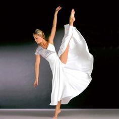 Stunning White Silver Lyrical Dress Dance Costume Adult Sizes
