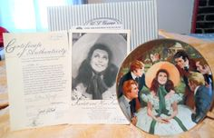 """Gone With the Wind Collector Plate """"Scarlett and Her Suitors"""" FIRST ISSUE"""