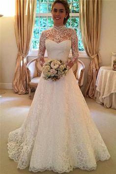 Vestido de noiva com mangas SN0028