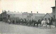 Dillon Hotel Montana, Rocky Mountain Freighting Outfit, Circa 1910 Printed Photo