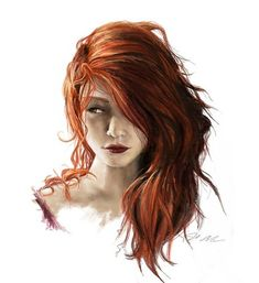 Plus - Discover The Secrets Of Drawing Realistic Pencil Portraits.Let Me Show You How You Too Can Draw Realistic Pencil Portraits With My Truly Step-by-Step Guide. Character Portraits, Character Art, Character Creation, Character Ideas, Cheveux Oranges, Half Elf, Phoenix Hair, Redhead Art, Fire Hair
