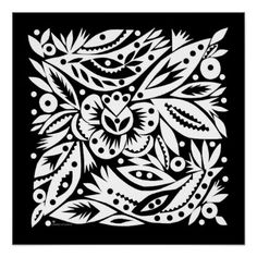 Birds In The Bush BW Poster - Negative Image - image gifts your image here cyo personalize