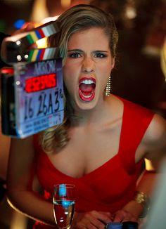 Arrow - Emily Bett Rickards as Felicity Smoak - BTS of 01x21 The Undertaking