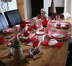 Table noel esprit chalet