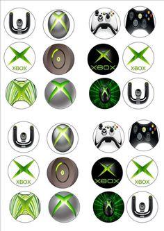 Bolacha De Xbox comestíveis, Papel De Arroz Festa De Aniversário Fada Cupcake Bolo Toppers X 24