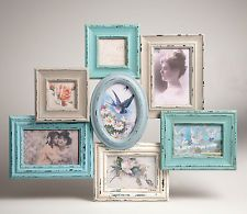 SHABBY CHIC VINTAGE STYLE PHOTO FRAME MULTI PICTURE COLLAGE FRAME - 7 PHOTOS