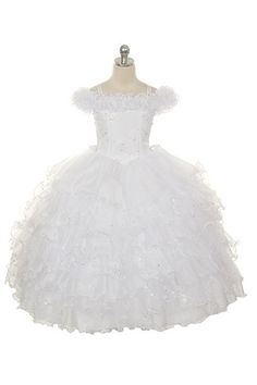 Can we say gypsy wedding?  lol flower girl dress...available in yellow!!