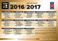 Découvrez le calendrier 2016-2017 du TOP 14 ! | Aviron Bayonnais Rugby Pro