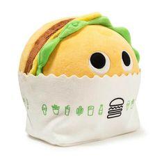 New Kidrobot 'Yummy World' Shake Shack Plush! New Kidrobot 'Yummy World' Shake Shack Plush! Food Pillows, Cute Pillows, Kawaii Plush, Cute Plush, Kawaii Pig, Food Plushies, Shake Shack Burger, Yummy World, Robots For Kids