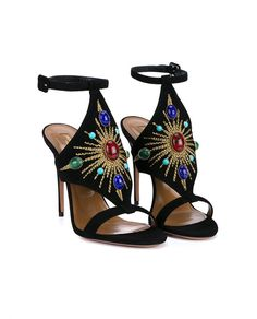 Aquazzura Desert Sun embellished ankle strap sandal