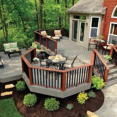 Three-tier deck