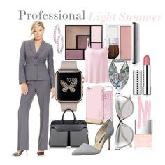 Professional Light Summer by prettyyourworld on Polyvore featuring moda, Le Suit, Uniqlo, French Connection, Aznom, Icz Stonez, Tom Ford, Codello, Clinique and Yves Saint Laurent