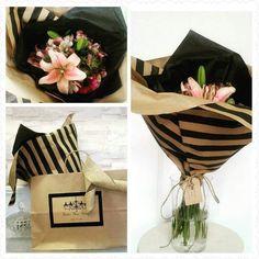 Pink Flower Arrangement / Bouquet Pink Lilies,  Roses, Hydrangea