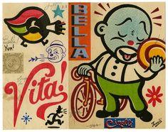 Cinelli 2013 bike catalogue cover by Canadian artist Gary Taxali