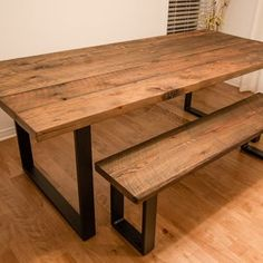 Large Storage Bench   Etsy Dining Table With Bench, Wooden Dining Tables, Dining Room Table, Dining Set, Painted Kitchen Tables, Farmhouse Kitchen Tables, Large Storage Bench, Table Color, Rustic Farm Table