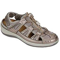 bda670b1b3a60 Orthofeet Verona Comfort Orthopedic Diabetic Plantar Fasciitis Womens  Sandal Fisherman Gray Leather 8.5 W US Sport