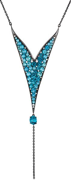 Ipanema by Dietrich | blue tourmalines, diamonds, white gold black rhodium treatment