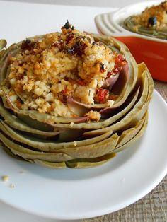 flora foodie: Baked & Stuffed Artichokes