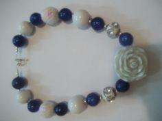 chunky bead necklace I made