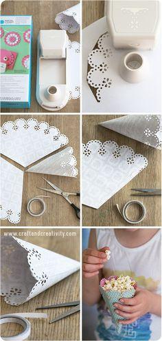 DIY Popcorn cones - by Craft & Creativity
