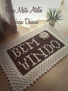 Crochet Home, Love Crochet, Crochet Baby, Knit Rug, Rugs And Mats, Crochet Pillow, T Shirt Yarn, Crochet Projects, Diy And Crafts