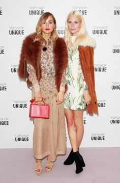"Best dressed 23.09.2015: Suki Waterhouse and Poppy Delevingne in Topshop at the Topshop Unique show in London  ""Whilst this look seems like they lucked out at the thrift store, it clearly is a well mastered mix of prints and texture."" – Bec McDiven, senior designer"