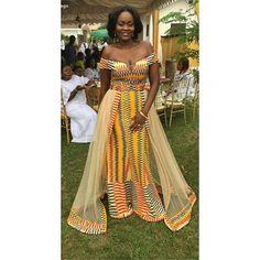 60 Beautiful Kente styles to try - Ankara Lovers African Wedding Attire, African Attire, African Wear, African Women, African Dress, Ghana Wedding Dress, African Prom Dresses, Latest African Fashion Dresses, African Print Fashion