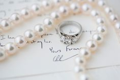 three diamond ring | Patricia Lyons #wedding