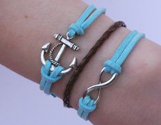 Antique Silver Bracelet, Anchor Bracelet, Infinity Bracelet, Everyday Bracelet
