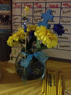 Autism Speaks centerpiece for a Philanthropy Round - Alpha Xi Delta at Alma College