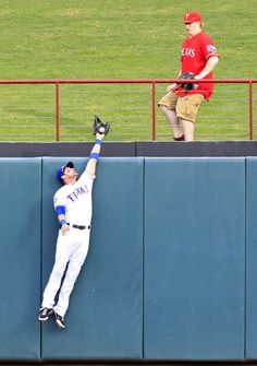 Craig Gentry's amazing catch, August 26, 2012 .... I was at that game!!!