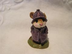 Wee Forest Folk April Showers Mouse Expo Event Special in Eggplant - Wff Box  | eBay