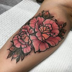 Some roses for today. Thanks Natalie for sitting so well for your first tattoo.