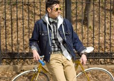 bow tie, matching sunglasses & bicycle